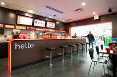 Modern cafe design, the digital menu board revolution take your restaurant to the next level Cafe Bar, Cafe Shop, Cafe Design, Store Design, House Design, Food Court Design, European Cafe, Modern Cafe, Counter Design