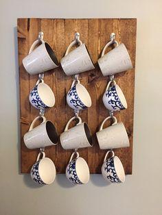 Wood Coffee Mug Rack by NoodleandDink on Etsy
