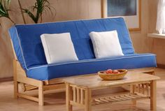 Tribeca Hardwood Futon Frame Frame Dimensions: Full Size: Sofa 76 L x 37 D x 34 H; Bed 76 L x 54 D x 34 H Queen Size: Sofa 82 L x 38 D x 37 H; Bed 82 L x 58 D x 37 H Chair Size: Sofa 30 L x 37 D x 34 H; Open 30 L x 54 D x 34 H Twin Lounger Size: 41 L x 37 D x 34 H; Open 41 L x 75 D x 34 H Full Lounger Size: 56 L x 37 D x 34 H; Open 56 L x 75 D x 34 H Frame Features: Accommodates 2 sliding drawers under the frame 3 lock positions (couch, lounge and bed) Larger stretcher rails for better…