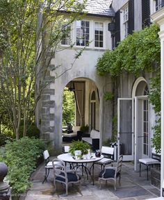 Last week we looked at some awesome porches. Today, I want to share some pictures that didn't quite fit that category: patios. Some people might say that porches and patios are relatively the sa. Outdoor Rooms, Outdoor Dining, Outdoor Gardens, Outdoor Decor, Patio Dining, Roof Gardens, Outdoor Seating, Gazebo, Outside Living