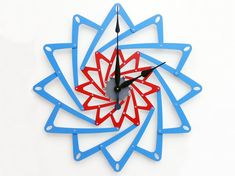 Hey, I found this really awesome Etsy listing at https://www.etsy.com/listing/158563427/pinwheel-i-extra-large-wall-clock