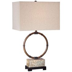Franklin Iron Works Bryce Iron Slate Table Lamp - #8V959 | Lamps Plus
