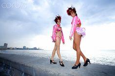 Tropicana Dancers on the Malecon. Havana. Cuba