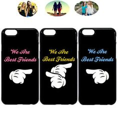 We are friends best friend bff phone case cover for iphone x xr 6 7 8 Bff Iphone Cases, Cheap Iphone 7 Cases, Bff Cases, Funny Phone Cases, Hard Phone Cases, Diy Phone Case, Iphone 11, Best Friend Cases, Friends Phone Case