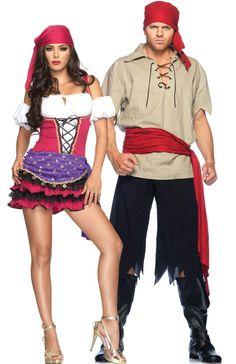 couples costumes gypsy couple costume sexy gypsy couple halloween costume teezerscostumescom - Sundrop Halloween Costume