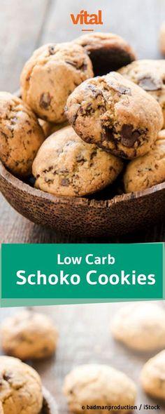 Diätfreundliche Schokokekse? Wir haben das Rezept: Probiert unser Rezept für low carb Schoko Cookies!