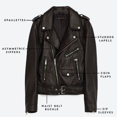 The Ultimate Moto Leather Jacket: Get to know the exact parts that make up the perfect moto leather jacket.