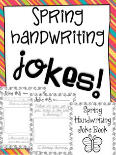 FREE! Print & cursive versions of 10 silly springtime jokes! Just like my facebook page to download this exclusive freebie!