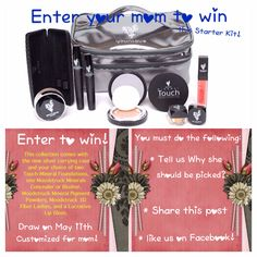 Enter to win $150.00 Mother's Day kit must like our page, post, share.   https://www.facebook.com/pages/Younique-by-Kathy-North/457384167726969?ref=hl   On May 11 draw will be made share and like our page