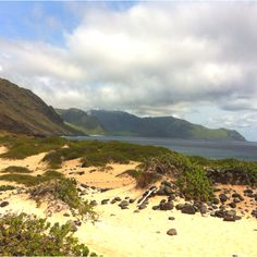Ka'ena Point, Oahu, Hawaii. Looking  towards Keawa'ula.