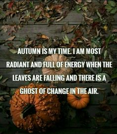 Autumn is my time.