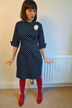 Tilly and the Buttons: Polka Dot New Look 6000