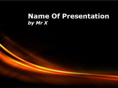 Red Curl Lines Main PPT Presentation Theme