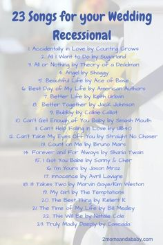 to walk down aisle exit Ideas - Best wedding songs to walk down aisle exit Ideas -Best wedding songs to walk down aisle exit Ideas - Best wedding songs to walk down aisle exit Ideas - Top 20 Ceremony Recessional Songs Wedding Recessional Songs, Wedding Song List, Best Wedding Songs, Wedding Playlist, Country Wedding Songs, Country Weddings, Vintage Weddings, Lace Weddings, Wedding Songs To Walk Down Aisle