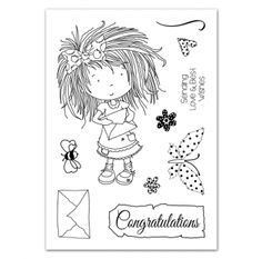 Tatty Twinkle Stamps Set One Butterflies: Message