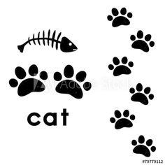 Cat Paws, Dog Cat, Felt Coasters, Cat Paw Print, Cat Signs, Mosaic Garden, Paw Prints, Cat Tattoo, Kawaii Cute