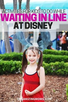 Activities for Kids to Do While Waiting in Line at Disney! Here are some great suggestions for helping kids pass the time while waiting in line at a Disney theme park! | #DisneyWorldTips #DisneylandTips #DisneyTips #DisneyTravelTips #TravelTips #FamilyTravelTips