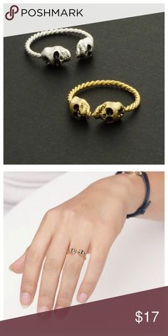 Skull Ringcoming soon  Get it ‼️❤️ Beautiful ring! Like to be notify of the arrival via drop price  ✅Metals Type: Zinc Alloy, Silver Plated, Gold Plated.    Jewelry Rings
