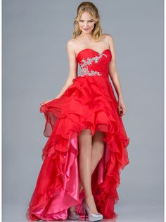 Layered High Low Prom Dress. Style #: JC833. Get yours at sungboutiquela.com!