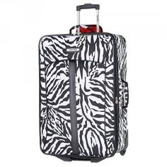 Zebra print suitcase. - Click image to find more Products Pinterest pins