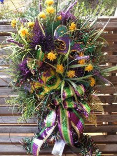 Mardi Gras Floral Decor
