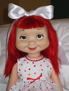 Awwww...  a red headed Whimsie doll!  Loved these dolls!! So many different ones! How much fun they were!