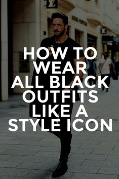 ALL BLACK CASUAL Outfit Ideas For Men.