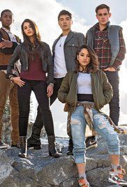 like the ripped jean style look and the whole ensemble.   Power Rangers Poster