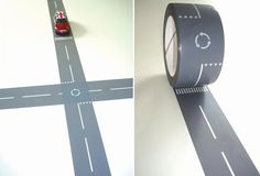 Tape Roads for toy cars.