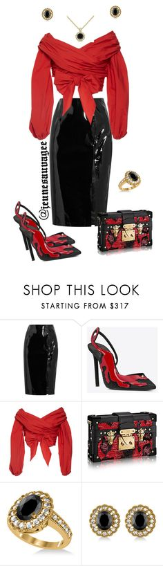"""Red Carpet"" by jeunesauvage ❤ liked on Polyvore featuring Topshop Unique, Johanna Ortiz and Allurez"
