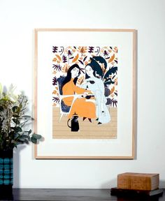 A personal favourite from my Etsy shop https://www.etsy.com/uk/listing/572621223/flora-and-fauna-giclee-print