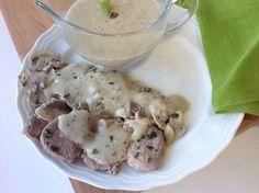 Solomillo de cerdo con champiñones y salsa de mostaza Buenísimo de mi hermana Luisa!!! ༺✿ƬⱤღ✿༻