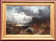 Gustave Dore, Souvenir of Loch Lomond, 1875. A wonderful portrayal of a rugged beautiful Scottish landscape, in the Gallery's permanent collection.