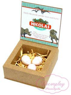 Convite caixa dinossauro