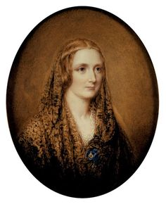 19 years old! what did I do when i was Not write Frankenstein anhow! This is a miniature portrait on ivory of Mary Shelley, based on a death mask, by Reginald Easton, ca. Mary Shelley Quotes, Art Romantique, The Modern Prometheus, Mary Shelley Frankenstein, Miniature Portraits, Miniature Paintings, Frankenstein's Monster, Monster Mash, Writers And Poets