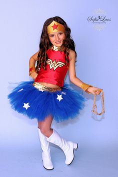 Wonder Woman inspire tutu set......Perfect for by tutuglamourous