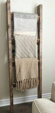 ladder blanket holder • etsy