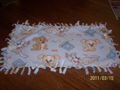 Playful Puppies Fleece Dog Chew Blanket  by kayandgirlscrafts, $3.50