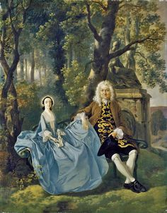Thomas Gainsborough (1727-1788) Mr and Mrs Carter, c.1747–8 It's About Time: Families In Gardens & Parks by Thomas Gainsborough (1727-1788)
