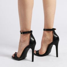 Wren Barely There High Heels in Black