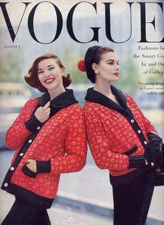 Vogue US August 1st, 1955  Models: Unknown and Leonie Vernet  ph: Roger Prigent