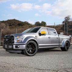 #Ford #F-150 #Custom #Wide Body #Slammed #Stance