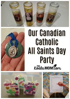 Our Canadian Catholic All Saints Day Party Catholic Crafts, Catholic Kids, Kids Church, Catholic Holidays, All Souls Day, All Saints Day, Kids Christmas, Preschool Activities, Decoration