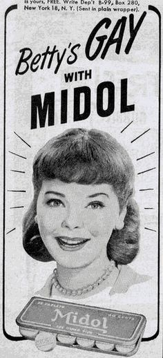 I love this one. Period ads are always difficult for a marketer because no one wants to hear about it, but this one is awesome. Well, now it is. I'm not sure how it went over back in the 50's.