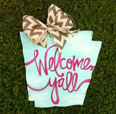 State Love - Welcome Y'all Door Hanger (Most States!)