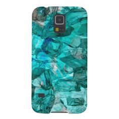 Turquoise Glass Chrystal Abstract Galaxy Cases Galaxy S5 Case