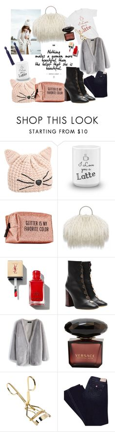 """""""Beauty"""" by etoileboutique ❤ liked on Polyvore featuring Karl Lagerfeld, Love you a Latte, Pinch Provisions, E L L E R Y, Chicwish, True Religion and Oscar de la Renta"""