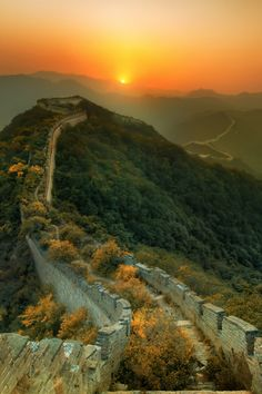 The great wall of China by Trey Ratciff
