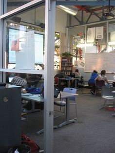 flexible space for classroom/library production area (photo from High Tech High San Diego)