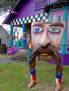 Mustache legs lawn art from what looks like a VW front hood. Outdoor Art, Outdoor Gardens, Outdoor Stuff, Yard Art, Mustache, Love Art, Graffiti, Street Art, Lion Sculpture